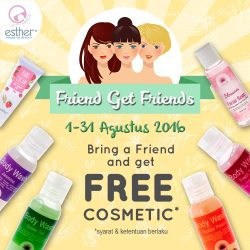 Bring a friend and get free cosmetic